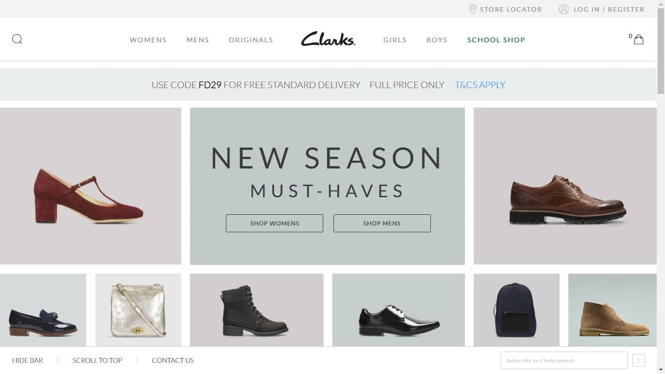 clarks.co.uk nus discount help