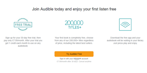 audible student discount page