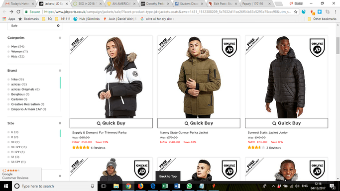 jd jackets student discount