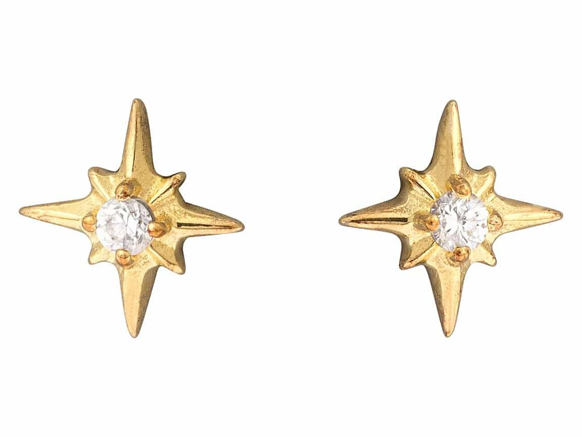 oliver bonas star earrings