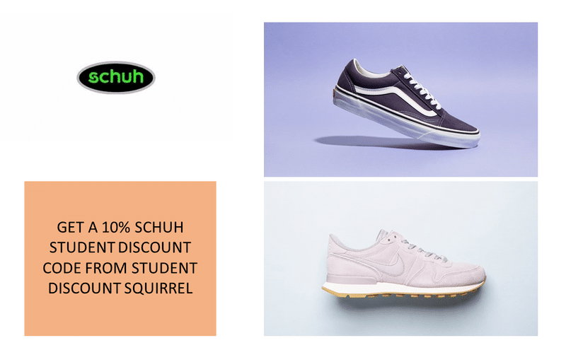 schuh student discount store