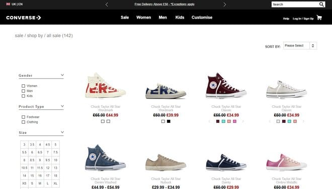 converse student discount sale