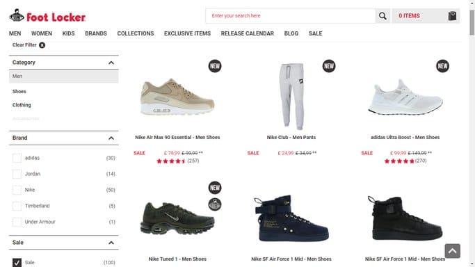foot locker student discounts page