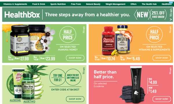 holland and barrett deals home page