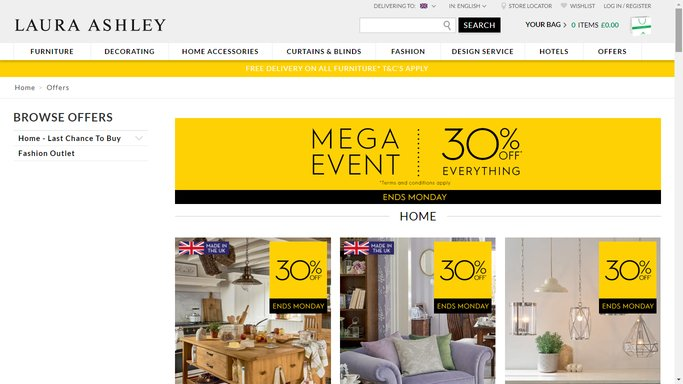 laura ashley offers for students