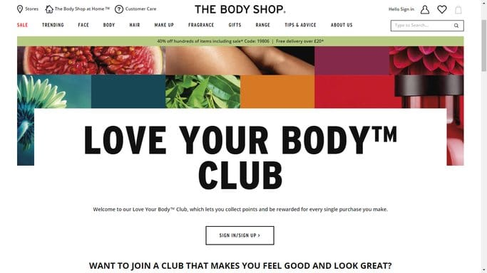 Body Shop voucher code