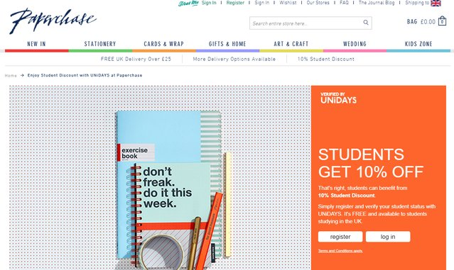 paperchase student discount