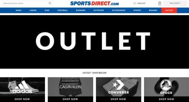 sports direct outlet