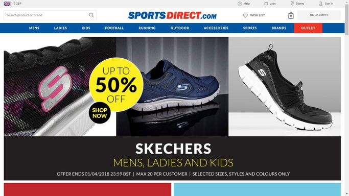 sports direct student sales