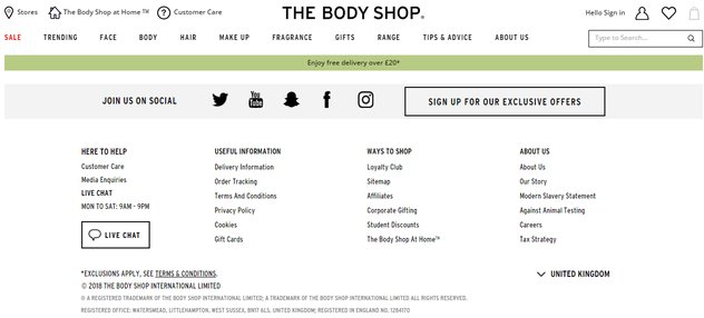body shop student discount