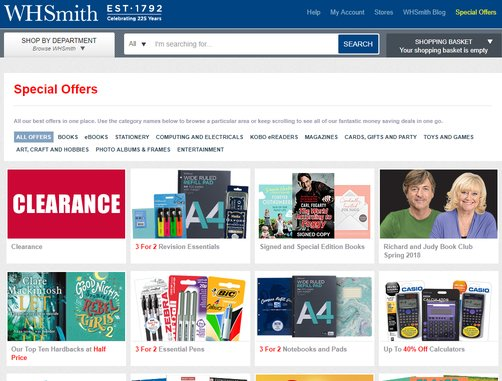 whsmith student discount offers