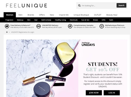 feelunique student discount