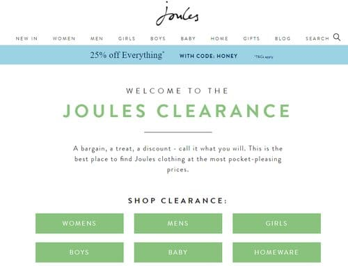 joules student discount