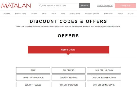 c0a413a60cb8 Matalan Student Discount Codes | 50% Off (May 2019)
