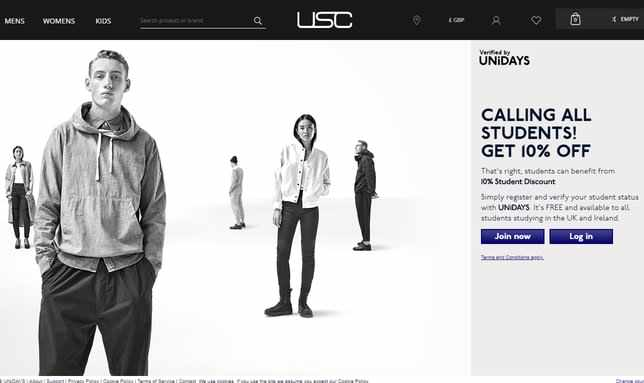 usc student discount page