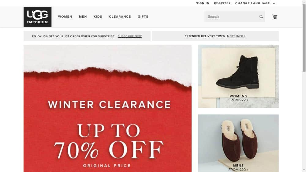 ugg outlet sales page