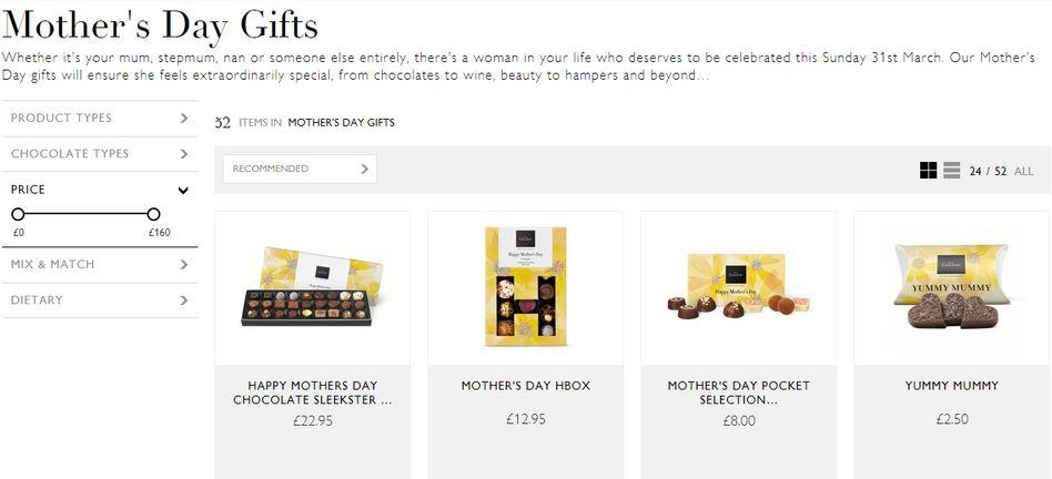 hotel chocolat mothers day student deals