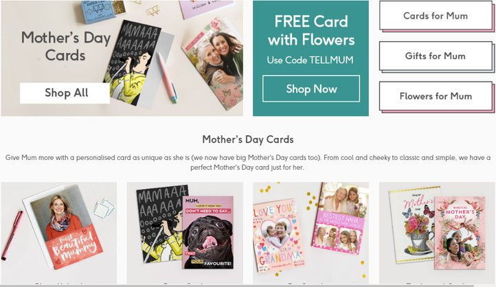 moonpig mothers day student deals