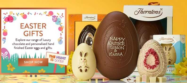 thorntons student easter deals