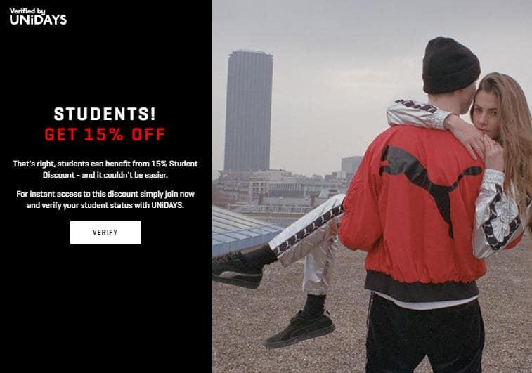puma student discount