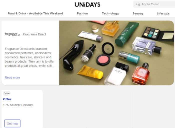 unidays fragrance direct