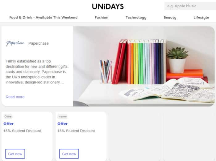 unidays paperchase
