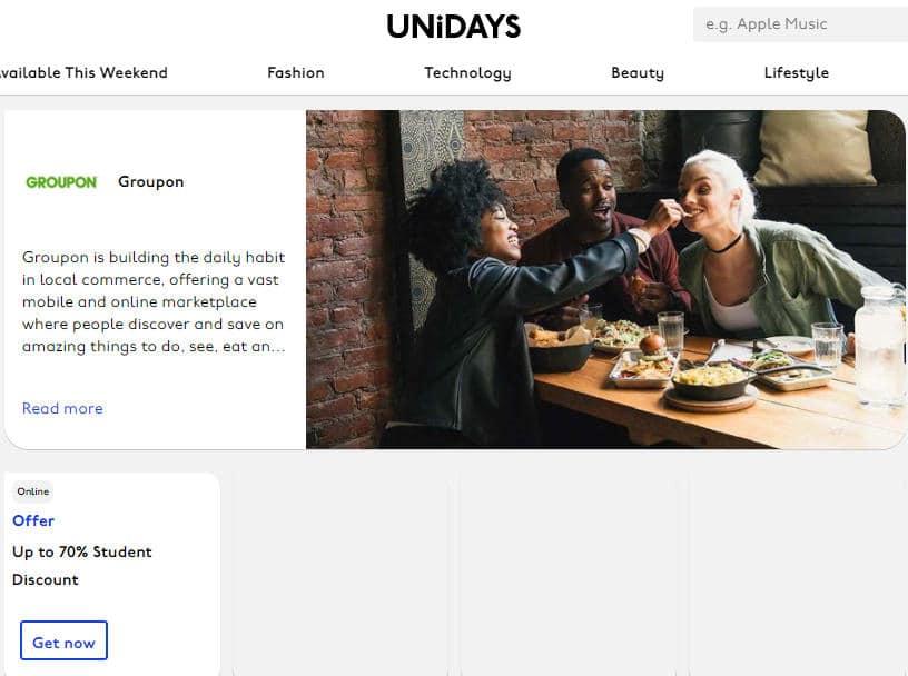 unidays groupon