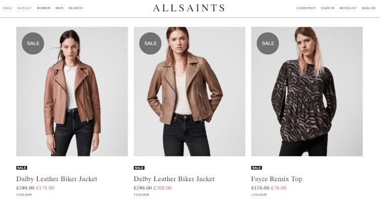 allsaints sale