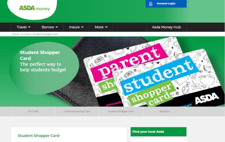 asda student discount