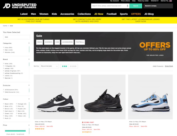 JD Sports Sale | Up to 50% Off +