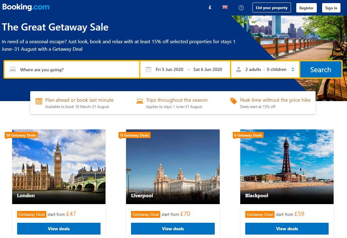booking.com sale