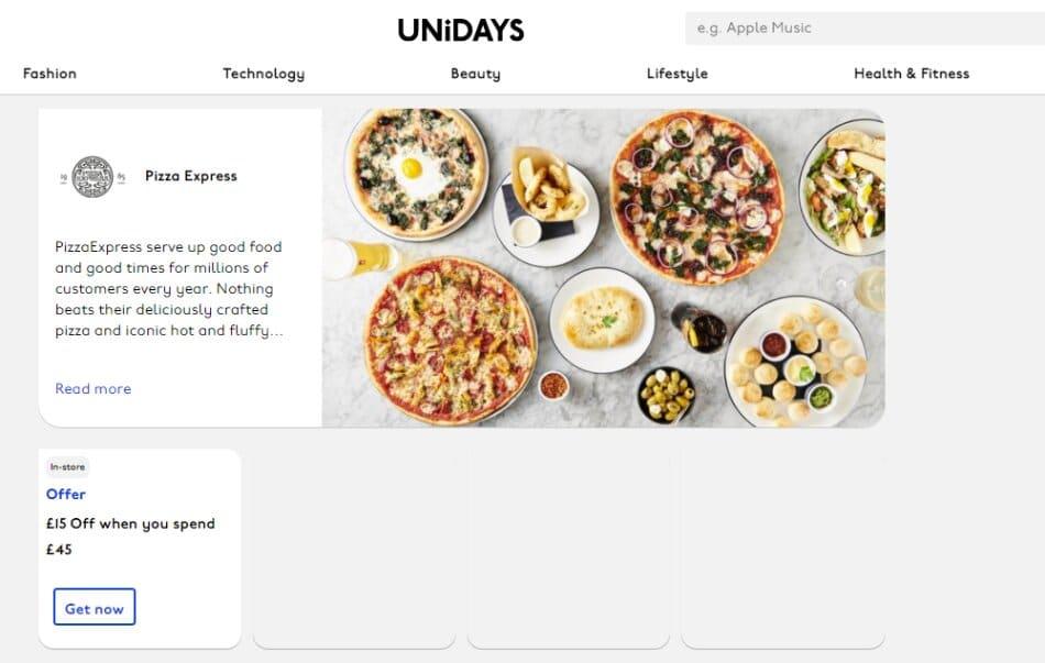 unidays pizza express